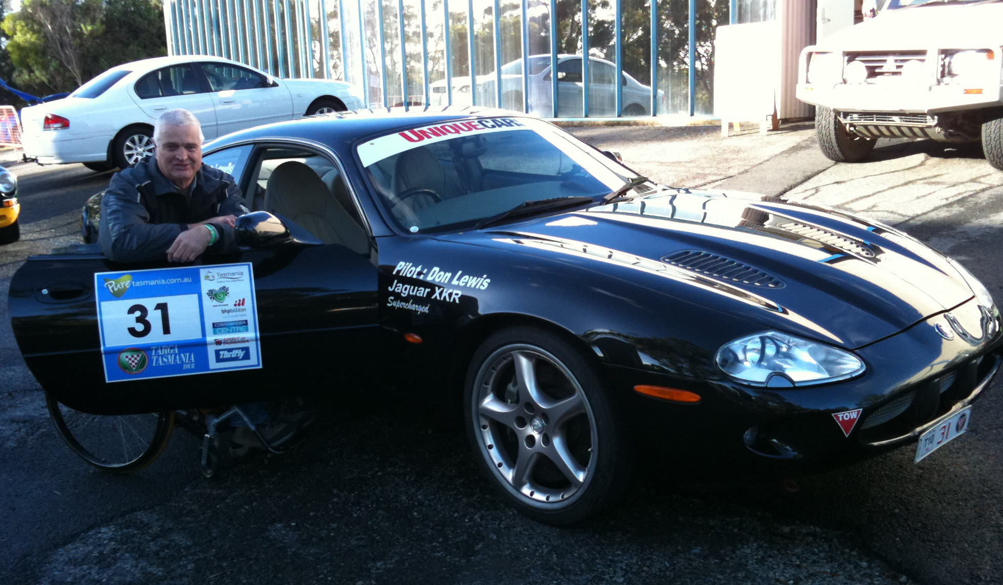Me and the XKR at Targa Tasmania 2010